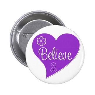 Pancreatic Cancer Believe Heart Button