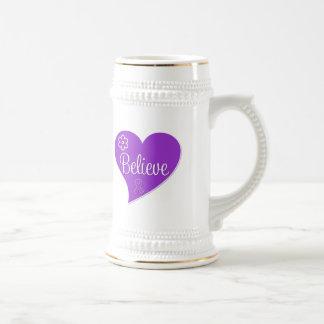 Pancreatic Cancer Believe Heart Coffee Mug