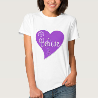 Pancreatic Cancer Believe Heart Tshirts