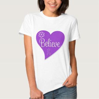 Pancreatic Cancer Believe Heart Tshirts