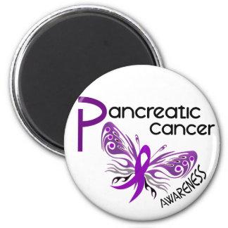 Pancreatic Cancer BUTTERFLY 3 1 Fridge Magnet