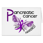 Pancreatic Cancer BUTTERFLY 3.1 Greeting Cards