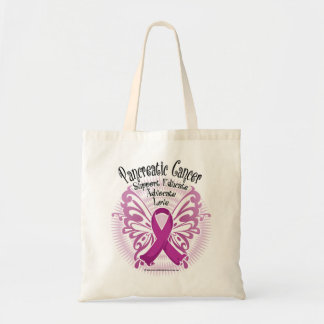 Pancreatic Cancer Butterfly 3 Tote Bags