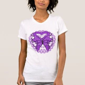 Pancreatic Cancer Butterfly Circle of Ribbons Shirt