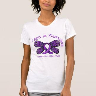Pancreatic Cancer Butterfly I Am A Survivor T-shirt