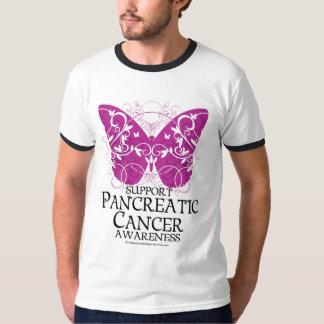 Pancreatic Cancer Butterfly T-Shirt