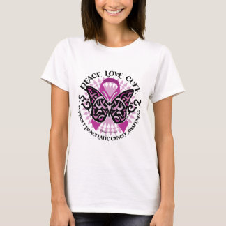 Pancreatic Cancer Butterfly Tribal 2 T-Shirt