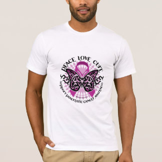 Pancreatic Cancer Butterfly Tribal 2 T-Shirt