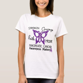Pancreatic Cancer Celtic Butterfly 3 T-Shirt