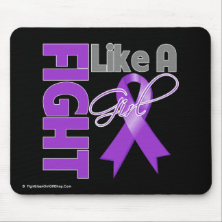 Pancreatic Cancer Chic Fight Like A Girl Ribbon Mouse Pad