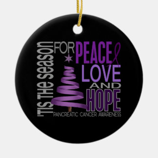Pancreatic Cancer Christmas 1 Ornaments