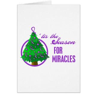 Pancreatic Cancer Christmas Miracles Greeting Card