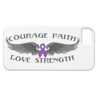 Pancreatic Cancer Courage Faith Wings iPhone 5 Case