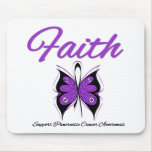 Pancreatic Cancer Faith Butterfly Ribbon Mouse Pad