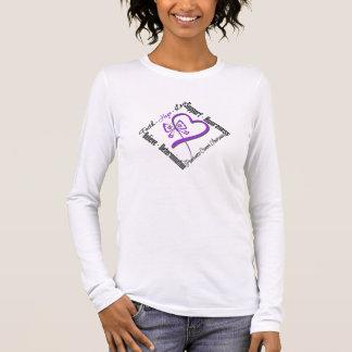 Pancreatic Cancer Faith Hope Love Butterfly Long Sleeve T-Shirt