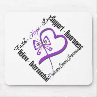 Pancreatic Cancer Faith Hope Love Butterfly Mouse Pad
