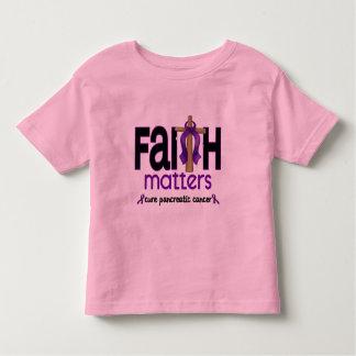 Pancreatic Cancer Faith Matters Cross 1 T Shirt
