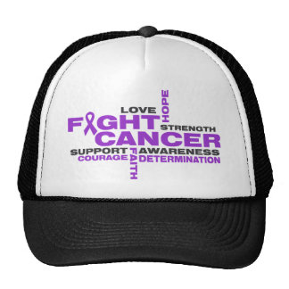 Pancreatic Cancer  Fight Collage Trucker Hats