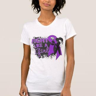 Pancreatic Cancer Fight Like A Girl Grunge T Shirts