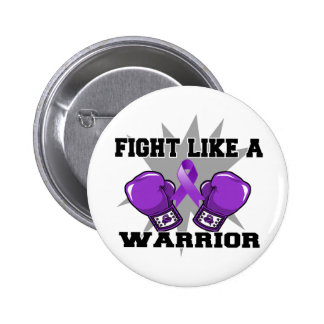 Pancreatic Cancer Fight Like a Warrior Pinback Button