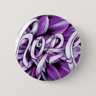 Pancreatic cancer floral hope products 6 cm round badge