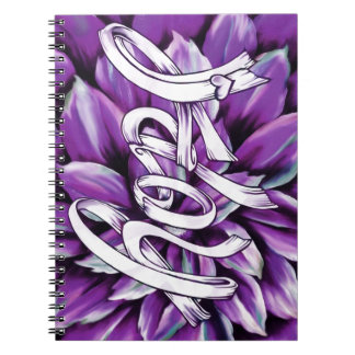 Pancreatic cancer floral hope products spiral notebooks