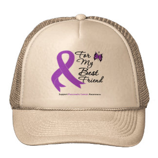 Pancreatic Cancer For My Best Friend Mesh Hat