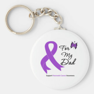 Pancreatic Cancer For My Dad Basic Round Button Key Ring