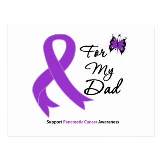 Pancreatic Cancer For My Dad Postcard