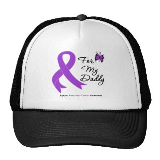 Pancreatic Cancer For My Daddy Mesh Hats