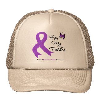 Pancreatic Cancer For My Father Mesh Hat