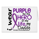 Pancreatic Cancer For My Hero My Daddy 2 Card