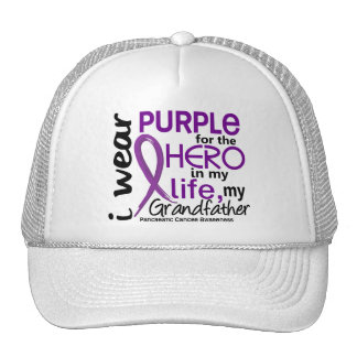 Pancreatic Cancer For My Hero My Grandfather 2 Trucker Hat