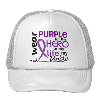 Pancreatic Cancer For My Hero My Uncle 2 Trucker Hat
