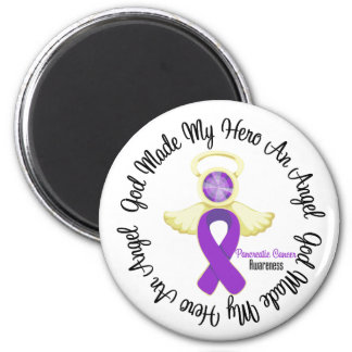 Pancreatic Cancer God Made My Hero An Angel 6 Cm Round Magnet