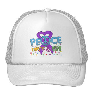 Pancreatic Cancer Groovy Peace Love Cure Hat