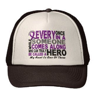Pancreatic Cancer HERO COMES ALONG 1 Aunt Trucker Hat