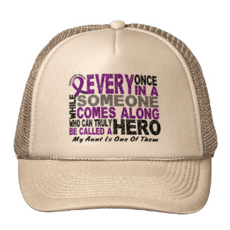 Pancreatic Cancer HERO COMES ALONG 1 Aunt Mesh Hat