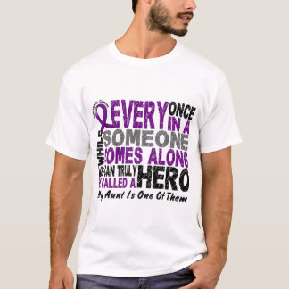 Pancreatic Cancer HERO COMES ALONG 1 Aunt T-Shirt