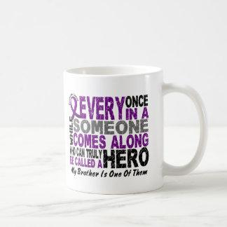 Pancreatic Cancer HERO COMES ALONG 1 Brother Coffee Mugs