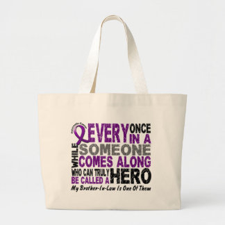 Pancreatic Cancer HERO COMES ALONG 1 BrotherInLaw Tote Bags