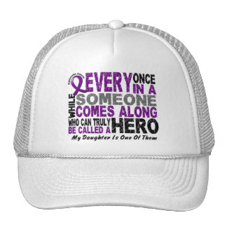 Pancreatic Cancer HERO COMES ALONG 1 Daughter Trucker Hat