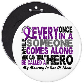 Pancreatic Cancer HERO COMES ALONG 1 Mommy 6 Cm Round Badge