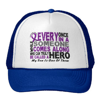Pancreatic Cancer HERO COMES ALONG 1 Son Trucker Hat