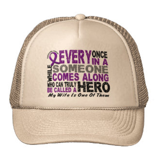 Pancreatic Cancer HERO COMES ALONG 1 Wife Trucker Hat