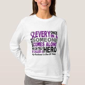 Pancreatic Cancer HERO COMES ALONG 1 Wife T-Shirt
