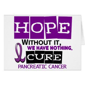 Pancreatic Cancer HOPE 2 Greeting Card