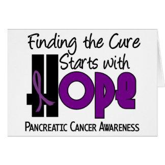 Pancreatic Cancer HOPE 4 Greeting Cards