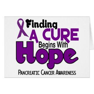 Pancreatic Cancer HOPE 5 Greeting Cards
