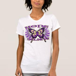 Pancreatic Cancer Hope Believe Butterfly T-Shirt